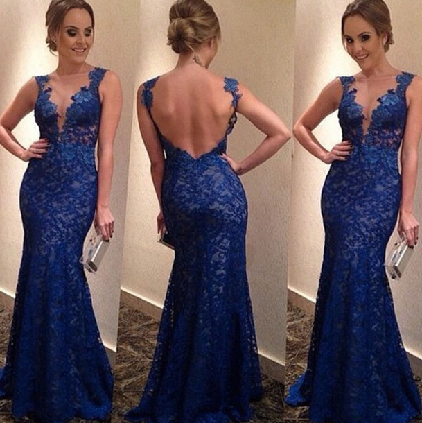 Appliques and Lace Prom Dresses, Floor-Length Prom Dresses, Sexy Prom Dresses,