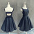 Black Homecoming Dress with Bow, Cute Short Junior Prom Dress