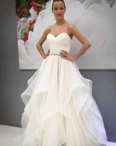 Princess Sweetheart Ivory Long Ball Gown Wedding Dress