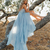 Sky Blue Rustic Prom Dresses, Summer Beach Wedding Gown Prom Dress, A Line