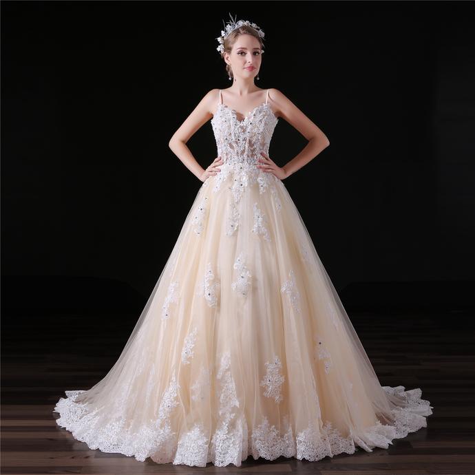 Long Elegant Champagne Prom Dresses , Floor by prom dresses on Zibbet
