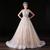 Long Elegant Champagne Prom Dresses , Floor Length Spaghetti Straps Lace