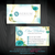 Nerium Business Card, Personalized Nerium Business Card, Watercolor Nerium Card,