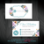 Personalized Nerium Business Card, Nerium Business Card, Watercolor Flower