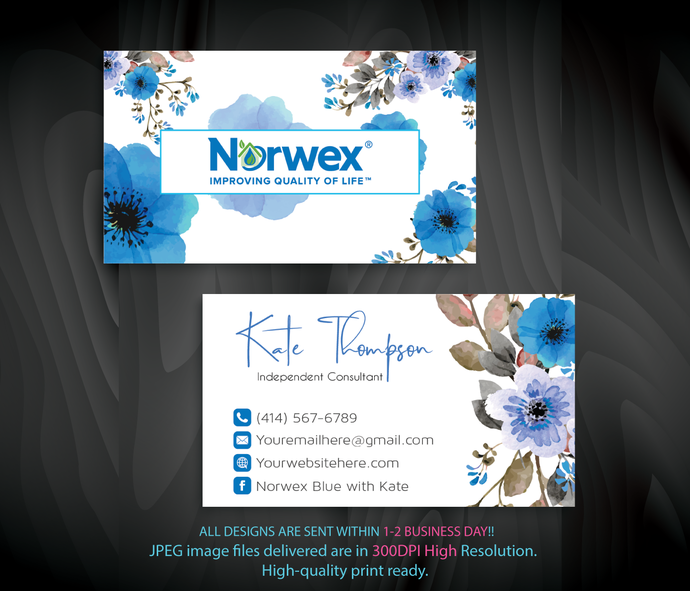 watercolor norwex business card norwex green cleaning business cards custom - Personalized Business Cards
