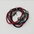 Red, Black Seed Bead Multi Strand Tribal Bracelet