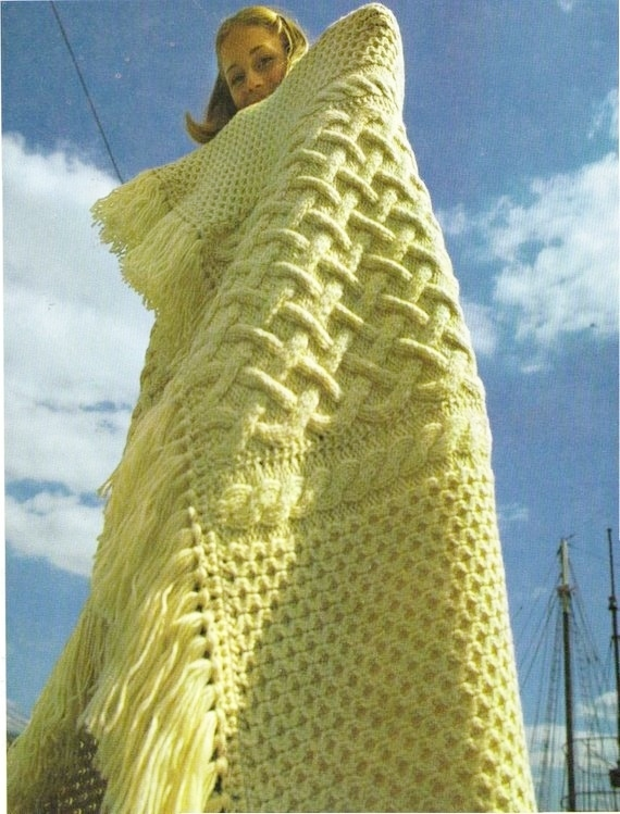 Instant Digital Download PDF Vintage Row by Row Knitting Pattern Stunning Irish