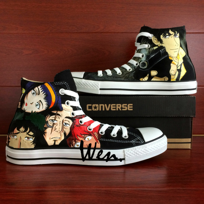 d6ce05fa49dc High Top Converse All Star Cowboy Bebop Spike Spiegel Design Hand Painted  Shoes