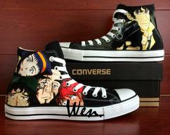On Sale. High Top Converse All Star Cowboy Bebop Spike Spiegel Design Hand  Painted Shoes ... 336d9abca