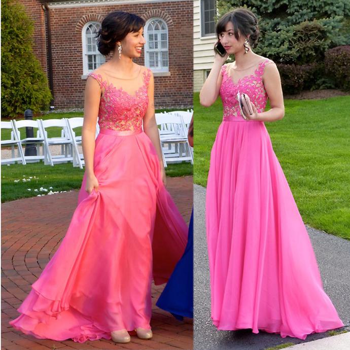 Cheap prom dresses Custom Made Elegant Lace Prom Dresses,Lace Graduation