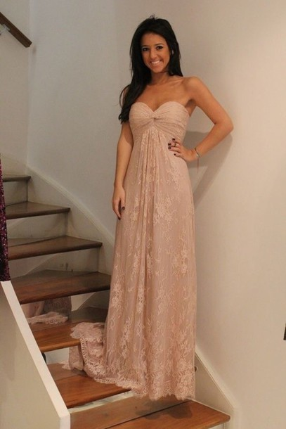 Custom Made A Line Sweetheart Neck Long Lace Prom Dresses, Dresses for Prom,