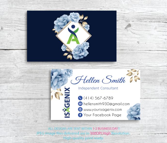 Isagenix Independent Consultant, Isagenix Business Cards, Personalized Isagenix