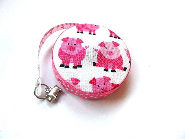 Tape Measure Pink Piggy Retractable Tape Measure