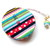 Measuring Tape Corduroy Rainbow Stripes and Dots Retractable Tape Measure