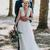 Lace Applique Ivory Tulle Rustic Wedding Dress V Neck Sheer Rustic Wedding Dress