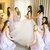 Ivory Tulle Ball Gown Wedding Dresses with Rhinestone Sash V Neck Bridal Dress