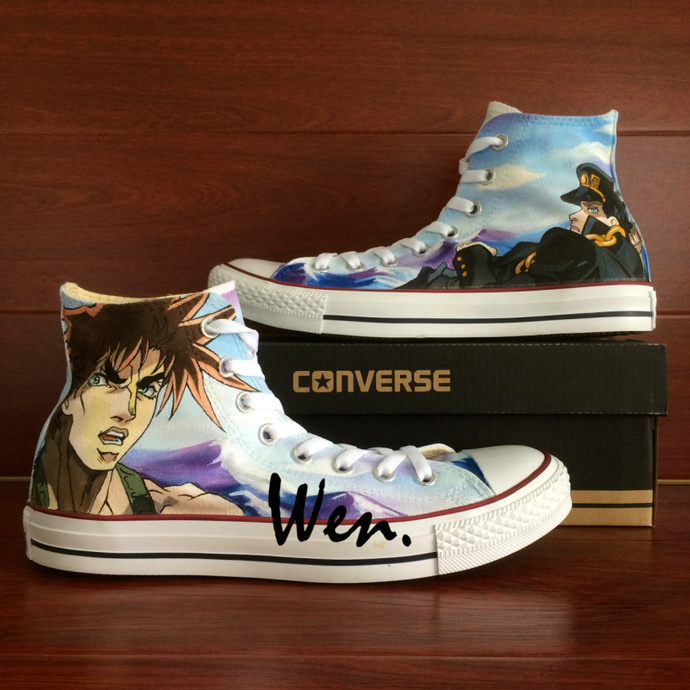 c1a8c0dfe0c7a8 Hand Painted Shoes Custom Design JoJo s Bizarre Adventure Anime Shoes Canvas
