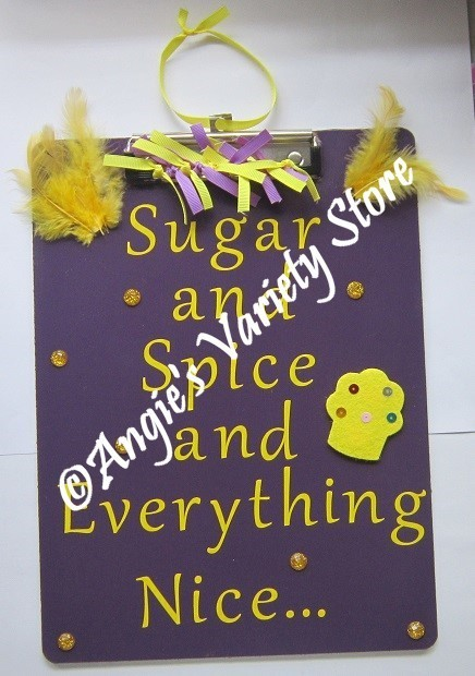 Sugar And Spice Hanging Clipboard By Angiesvarietystore On Zibbet