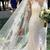 See Through Long Sleeve Lace Wedding Dresses Mermaid Wedding Dress with Slit