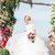 Off the Shoulder White Organza Ball Gown Wedding Dresses with Sleeves