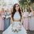 Two Piece White Wedding Dresses Ruffle Skirt Ball Gown Wedding Dress