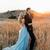 Thigh Split Sky Blue Rustic Wedding Dresses Beach Wedding Gown with Court Train