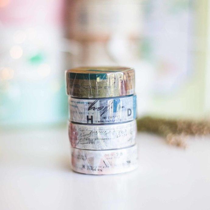 Yohaku collage washi tape - 1.5 cm wide masking tape 10m - perfect for