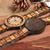 Couple Watch Engraving Wooden Personalized Lovers Gifts Anniversary