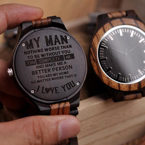 great gift for husband engraved wooden watch by heavenkp on zibbet