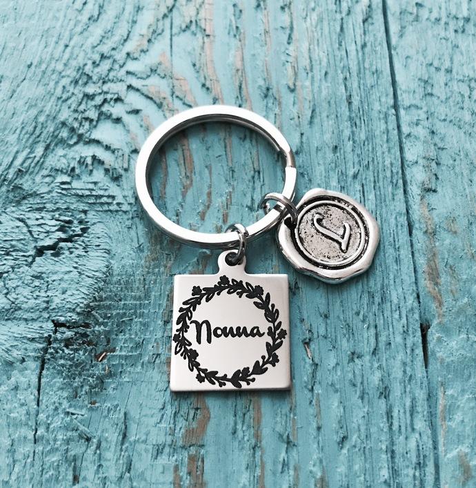 Nonna, Italian, Grandma, Grandmother, Silver Keyring, Gifts for, Nonna Gift,