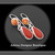 Spicy~ Rosarita Orange Spiny Oyster Hand Fabricated Argentium Silver Earrings