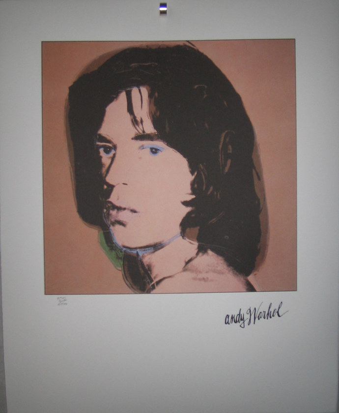 Andy Warhol lithography Mick Jagger signed numbered limited edition
