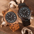 Wooden Watches for Men White Roman Number Quartz