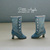 Victorian Boots for Blythe dolls and others (up to 3cm feet)- DENIM
