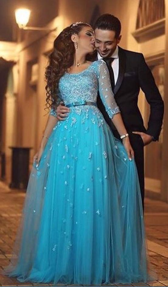 3/4 Sleeve Prom Dresses
