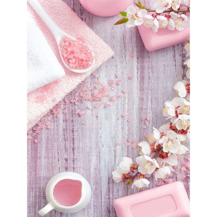 Pink Spa accessories Diamond Painting DIY kit Canvas Painting Wall Art Mosaic