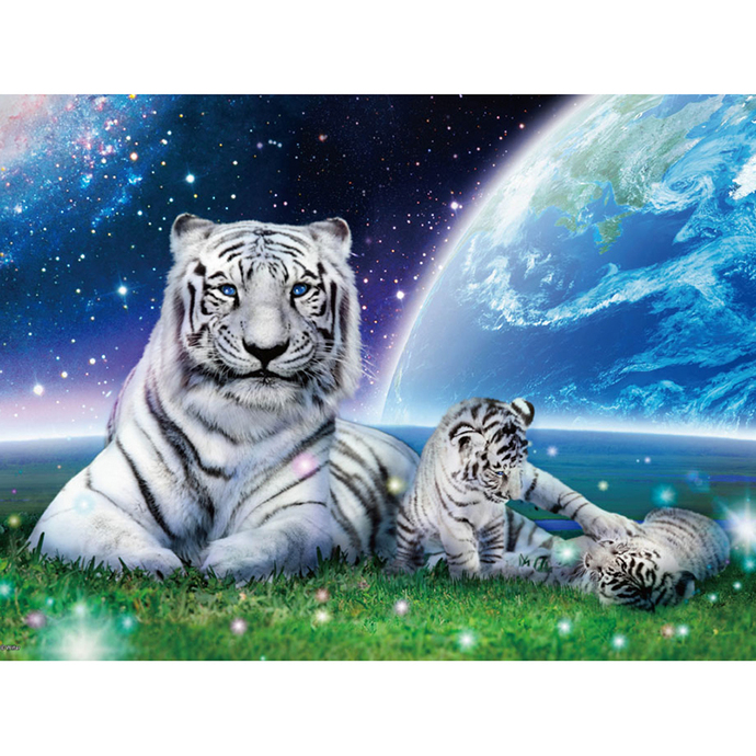 White tigers family Diamond Painting DIY kit Canvas Painting Wall Art Mosaic