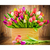 Colorful flowers in the basket  Diamond Painting DIY kit Canvas Painting Wall