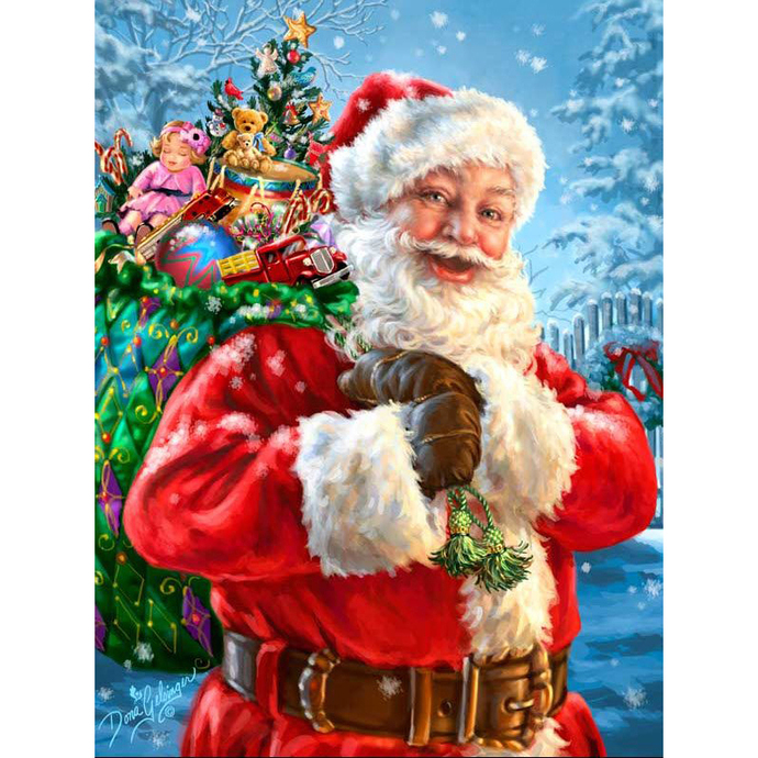 Santa claus Diamond Painting DIY by video games design decal on Zibbet