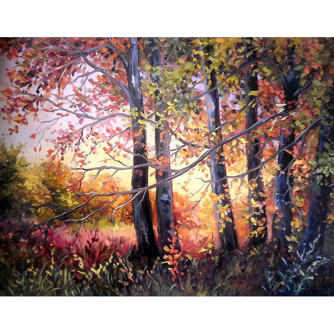 Colorful trees Diamond Painting DIY kit Canvas Painting Wall Art Mosaic Painting