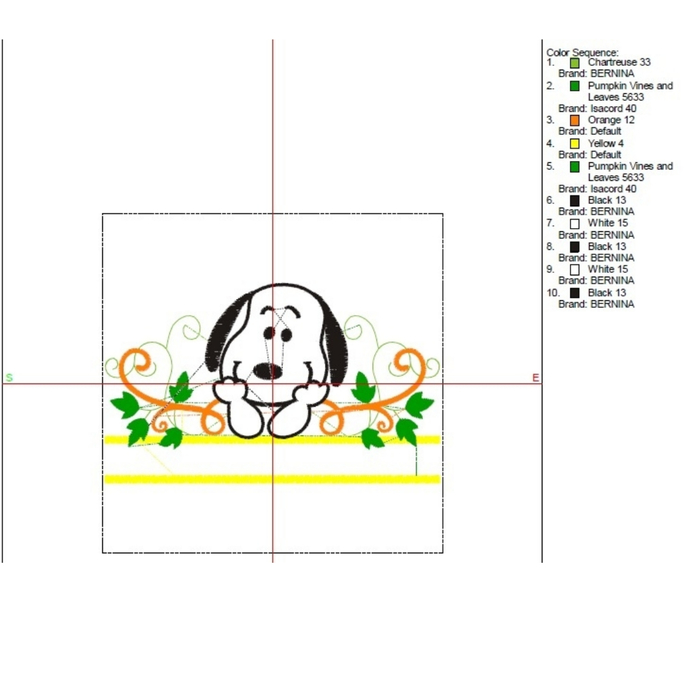 Snoopy Embroidery machine designs Monogram Halloween instant digital download