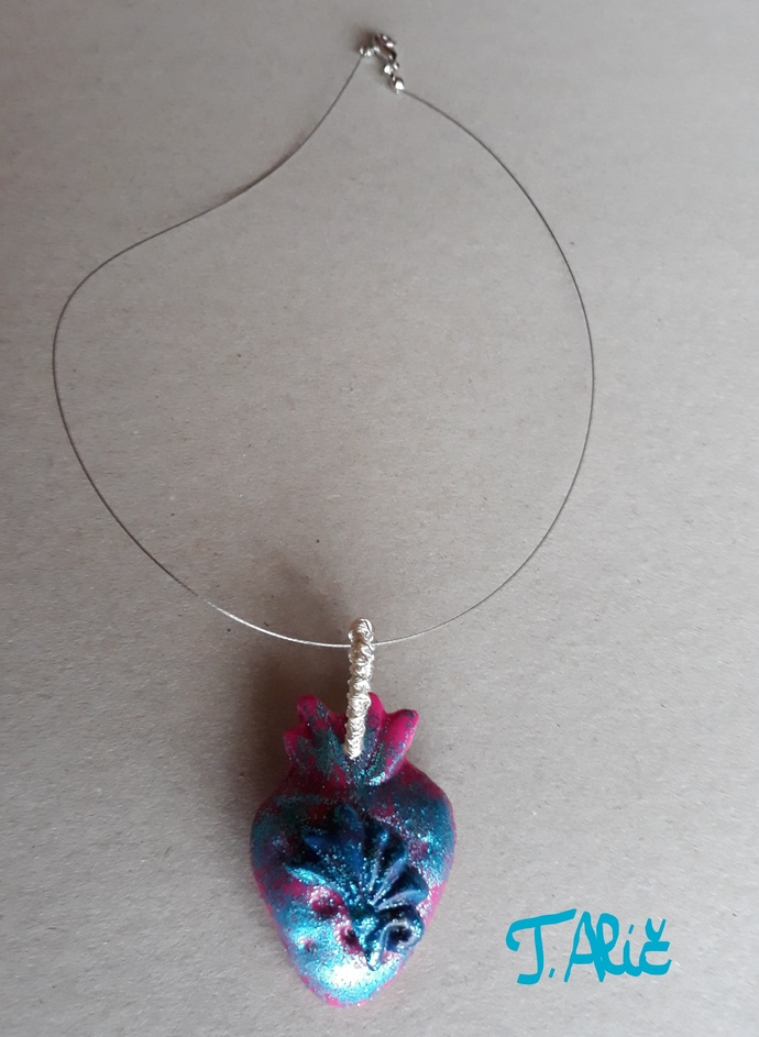 Handmade necklace (material for pendant: polymer clay - product 231/2018)