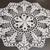 """Crocheted white round doily, 100% mercerized cotton, Diameter = app.48 cm (19""""),"""