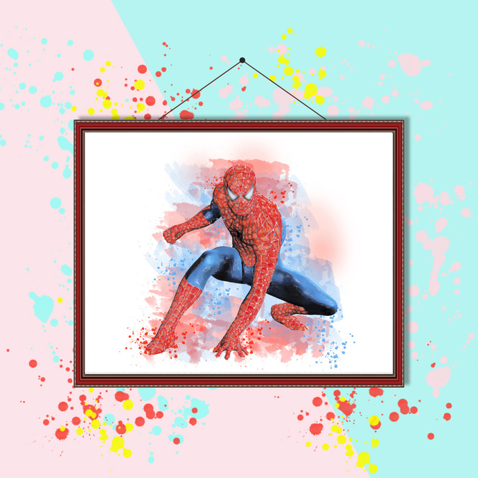 Spiderman watercolor, Spiderman print, Spiderman poster, Spiderman wall decor,