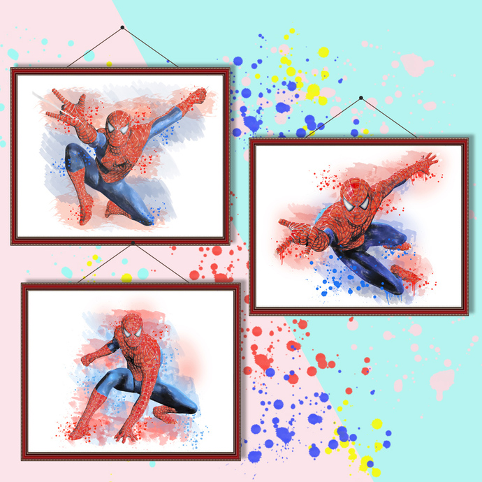 Spiderman watercolor, Spiderman print, by MagianRainbow on Zibbet