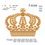 Royal Crown Embroidery Design. Machine Embroidery Design. Tiara embroidery.