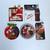 90s Coca Cola Shaped Christmas Santa Greeting Cards Box Set Of 5 - NEW Unused