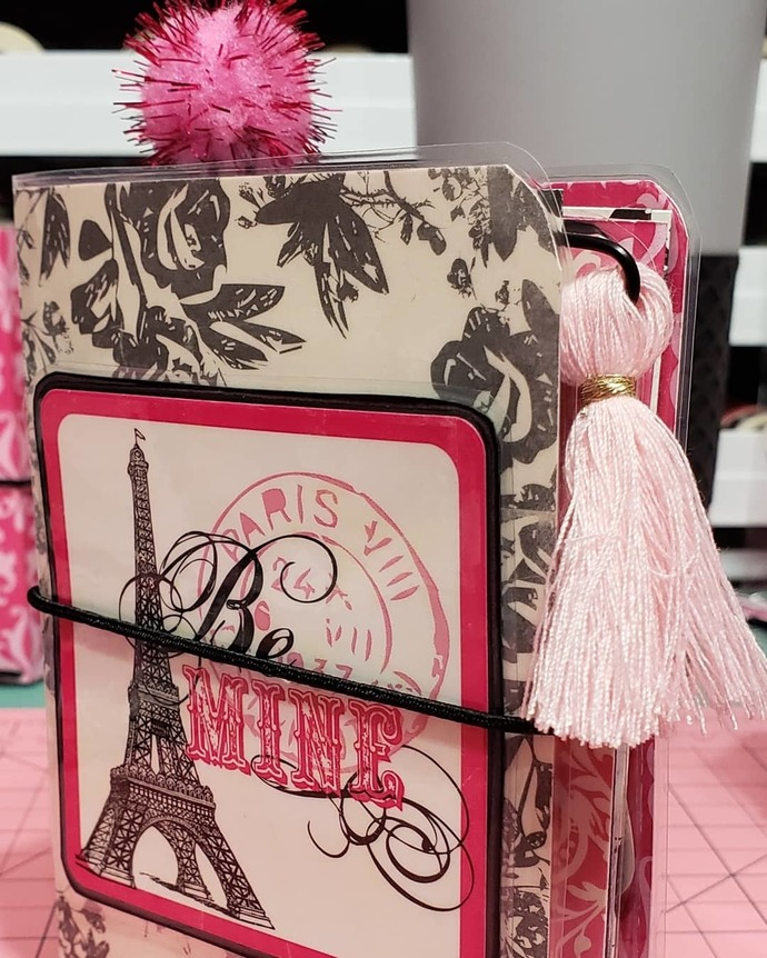 "Echo Park be mine micro travelers notebook ""Eiffel Tower"""