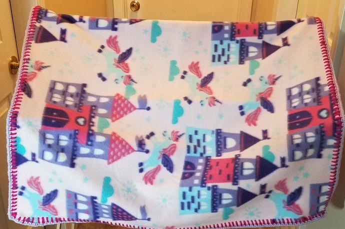 Unicorns and Castles Fleece Blanket