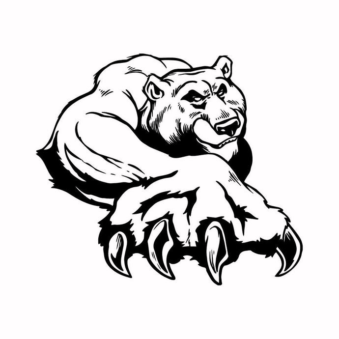 Grizzly Bear 08 graphics design SVG DXF PNG PDF AI EPS Vector Art Clipart